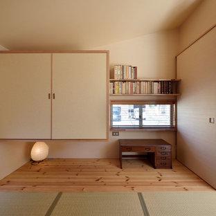他の地域の和風のおしゃれなホームオフィス・仕事部屋の写真