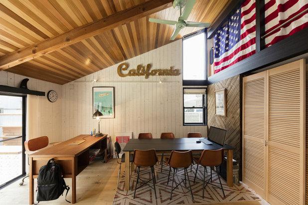ビーチスタイル ホームオフィス・仕事部屋 by カリフォルニア工務店