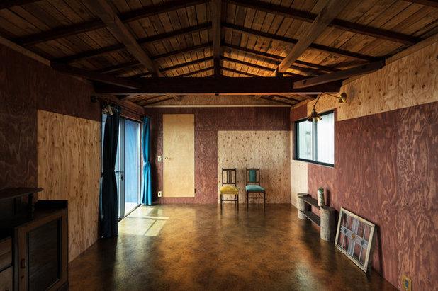 カントリー ホームオフィス・仕事部屋 by SQOOL一級建築士事務所