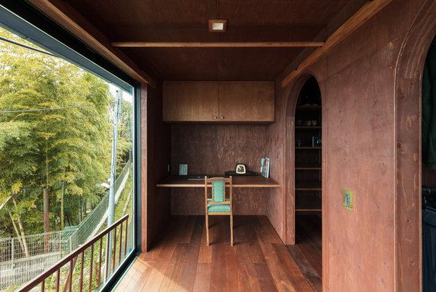 コンテンポラリー ホームオフィス・仕事部屋 by SQOOL一級建築士事務所