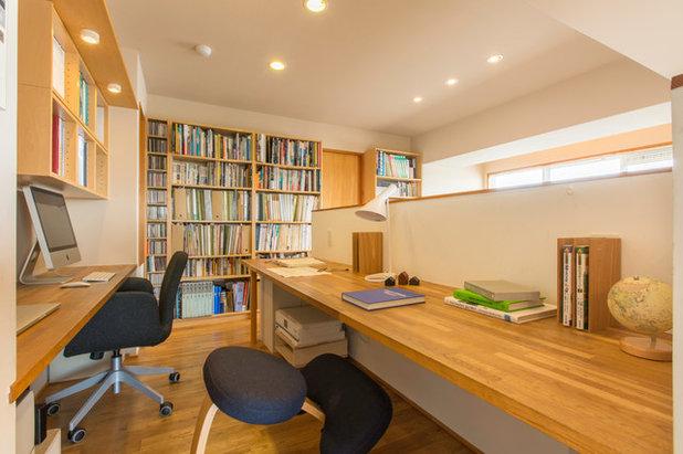 和室・和風 書斎・ホームオフィス by 木名瀬佳世建築研究室