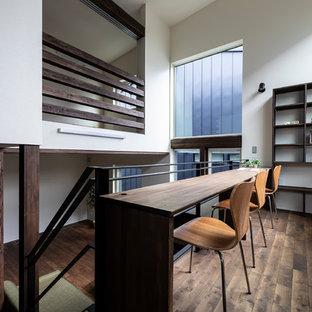 札幌の北欧スタイルのおしゃれなホームオフィス・仕事部屋の写真