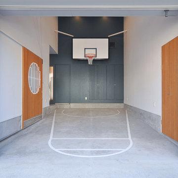 バスケットボールのできる家