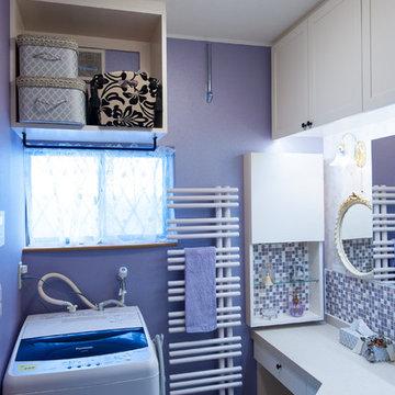 エレガンスデザインのパウダールーム(オリジナル洗面化粧台)
