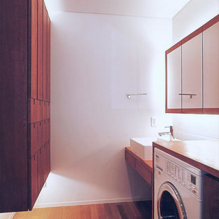 Inspiration for a scandinavian laundry room remodel in Other