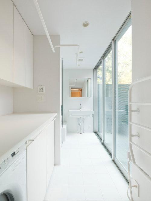 ランドリールームのおしゃれな収納・インテリア事例画像 Houzz ハウズ