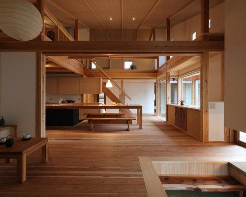 asiatische wohnzimmer mit hellem holzboden ideen. Black Bedroom Furniture Sets. Home Design Ideas