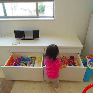 おもちゃや絵本もしまえるテレビボード兼リビング収納