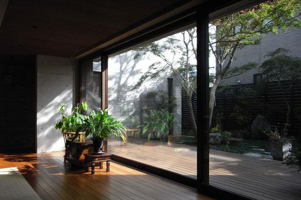 モダン 居間 by 村上建築設計室
