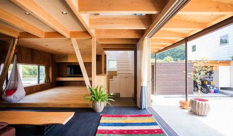 My Houzz:豊かな自然を取り込んだ、ゆるやかにつながる大空間の家