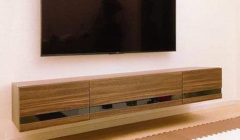 houzz 2019受賞|フロートテレビボード(床から浮いているテレビボード)【全国対応】製作実例4