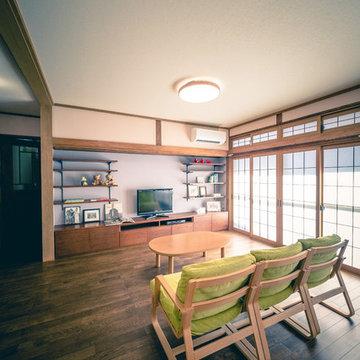 中古住宅リノベーションやさしい色のS House