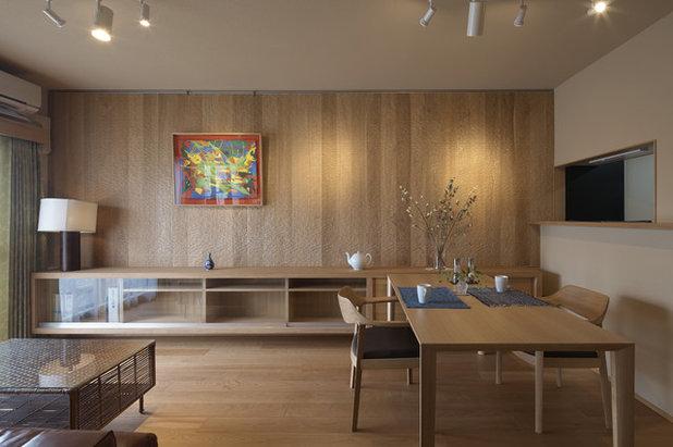 モダン リビングルーム by 空間工房 用舎行蔵 一級建築士事務所