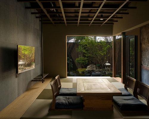Wohnzimmer Mit Tatami-Boden Und Wand-Tv Ideen, Design & Bilder | Houzz