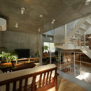 代々木上原のパッシブデザインの外断熱住宅