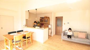 冬でもあったか!パイン無垢フローリングのカフェのようなお家