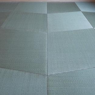 Esempio di un soggiorno con pavimento in tatami