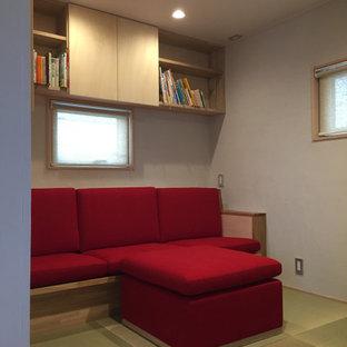 和室の造り付けソファ