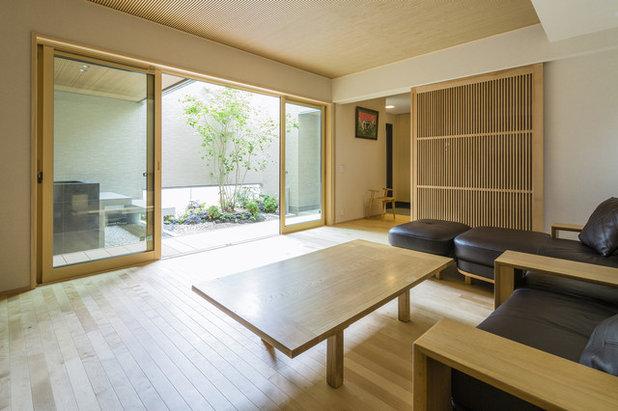 和室・和風 リビングルーム by SQOOL一級建築士事務所