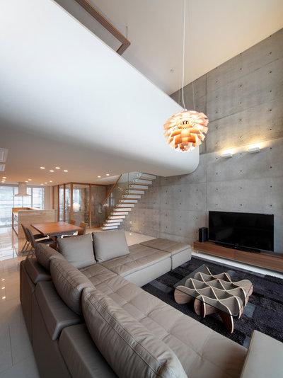 コンテンポラリー リビング by 株式会社Y's design 建築設計室
