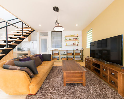asian living room ideas. Inspiration for an asian light wood floor living room remodel in Other with  yellow walls and Our 50 Best Asian Living Room Ideas Designs Houzz