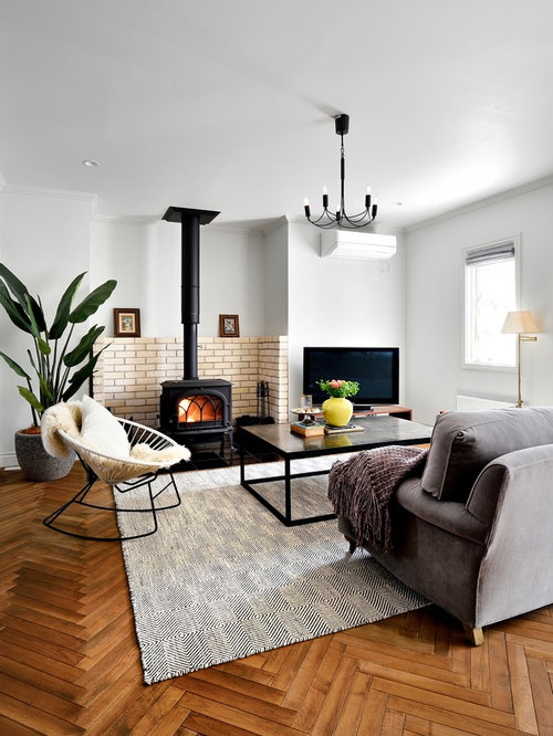 This Is An Example Of A Scandi Formal Open Plan Living Room In Other With  White Part 78