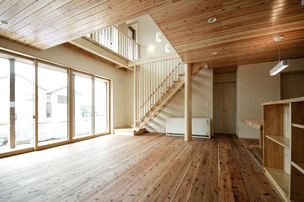 和室・和風 リビング by 株式会社本井建築研究所一級建築士事務所