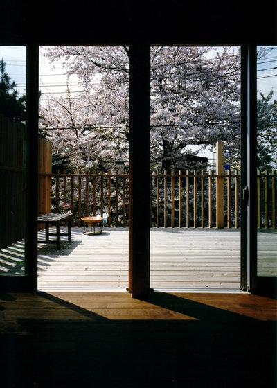 Modern Living Room by 荒木毅建築事務所
