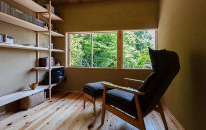 竹林を借景にした、工房のある京都の住宅