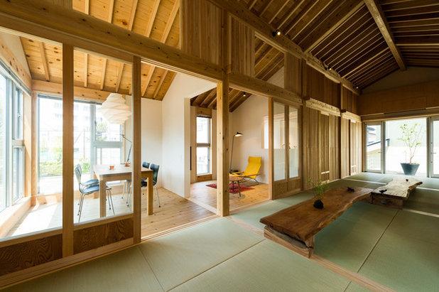 和室・和風 リビング by トクモト建築設計室