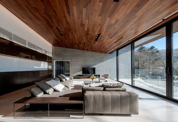 コンテンポラリー リビング・居間 by Earnest architects
