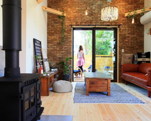 Industrial Small Living Room Home Design Ideas Photos