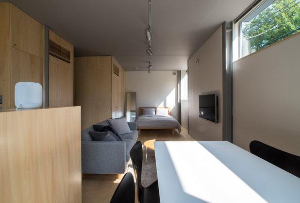 インダストリアル リビング・居間 by 若松均建築設計事務所