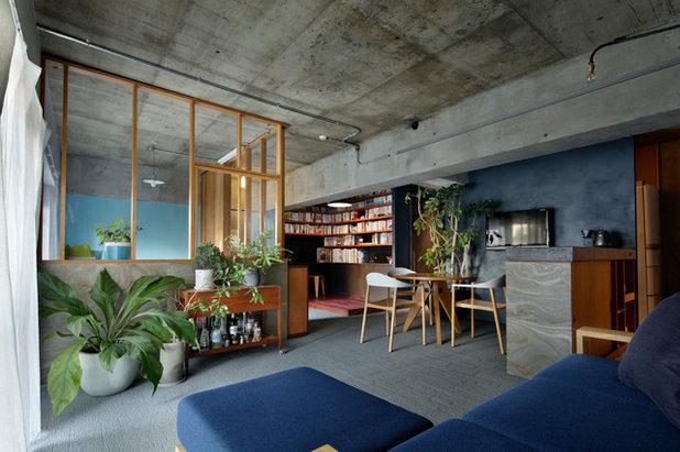 インダストリアル リビング by 蘆田 暢人 Ashida Architect & Associates