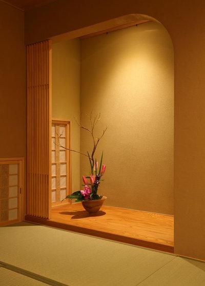和室・和風 リビング・居間 by 吉田設計+アトリエ・アジュール
