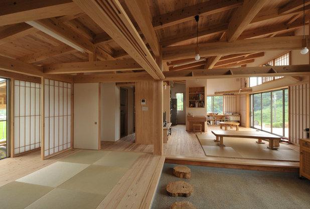 和室・和風 リビングルーム by 建築写真撮影 STEP-image