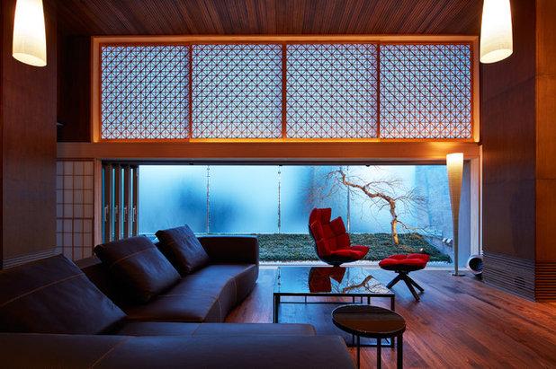 コンテンポラリー リビングルーム by 有限会社 オープンハウス