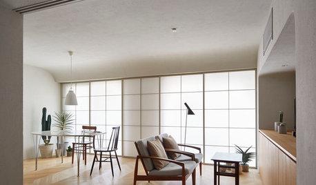 Casas Houzz: Un luminoso piso en Tokio con las esquinas redondas