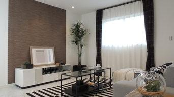 interior decoration for selling home 分譲住宅のインテリアデコレーション