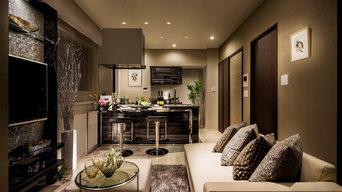 Model room design  Living Dining room