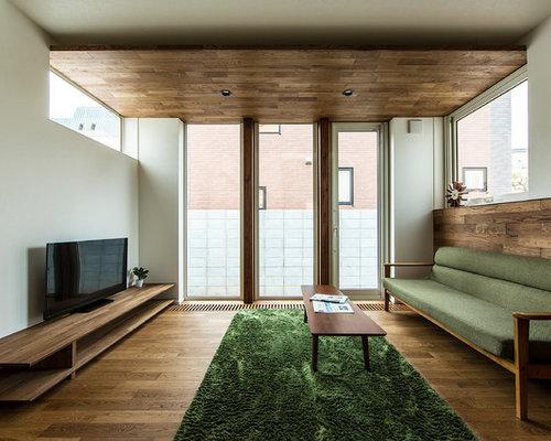 asiatische wohnzimmer mit dunklem holzboden ideen. Black Bedroom Furniture Sets. Home Design Ideas