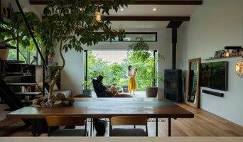 Slow life 琵琶湖を望む別荘に緑を感じ住む