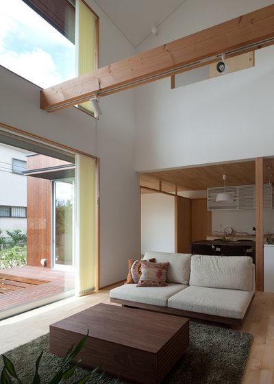 アジアン リビングルーム by 株式会社 井川建築設計事務所 / igawa-architecture