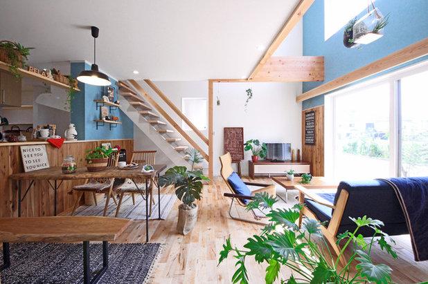 北欧 リビング・居間 by Yutori Style 鳥居建設21