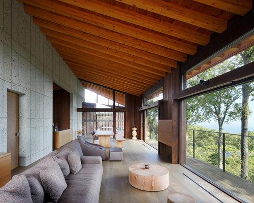 Salotto Moderno Con Camino E Veranda Interior Design : Salotto moderno con camino e veranda interior design