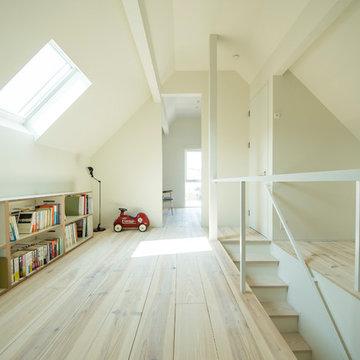 デンマークレンガの外観の柏原の家