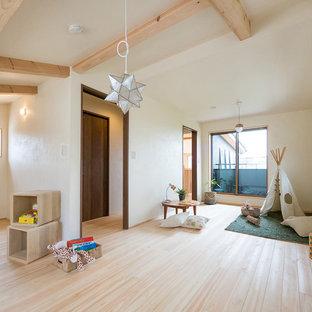 東京都下の北欧スタイルのおしゃれな子供部屋の写真