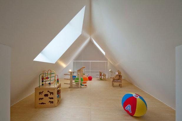 Moderno Dormitorio infantil by 一級建築士事務所 水石浩太建築設計室