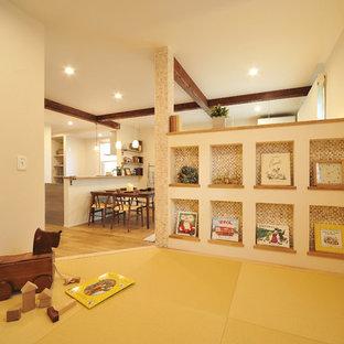 他の地域の北欧スタイルのおしゃれな子供部屋 (白い壁) の写真