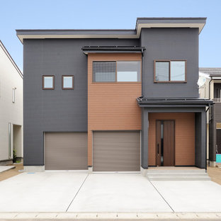 Example of an urban exterior home design in Other